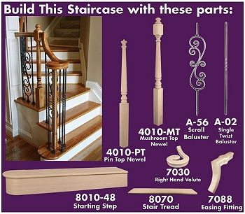 Stairs stair parts accessories metal newels balusters stair risers